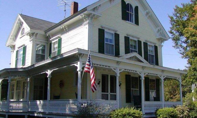 Country Home Designs American House Two Stories White Victorian