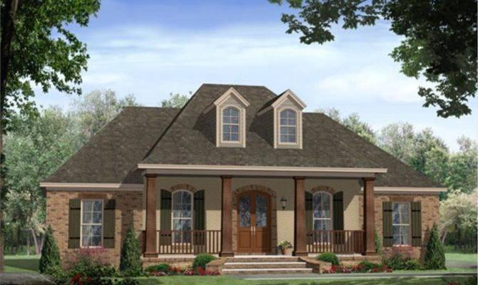 Country Home Designs Beautiful Garden Balck Roof Brick Wall Classy
