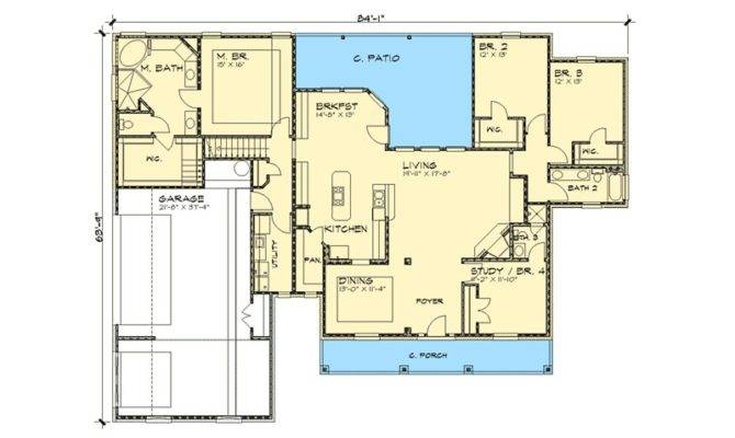 Country Home Open Floor Plan Eurohouse