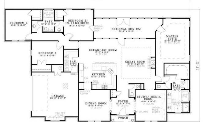 Country Home Plan Bedrms Baths