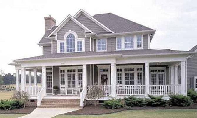 Country Home Plans Porches Unique House