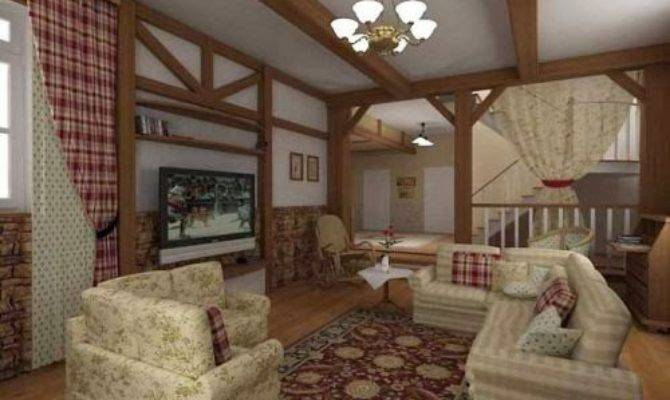 Country House Cottage Living Room Style Ideas