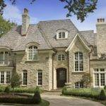 Country House Facade Facing Stone Pathway French