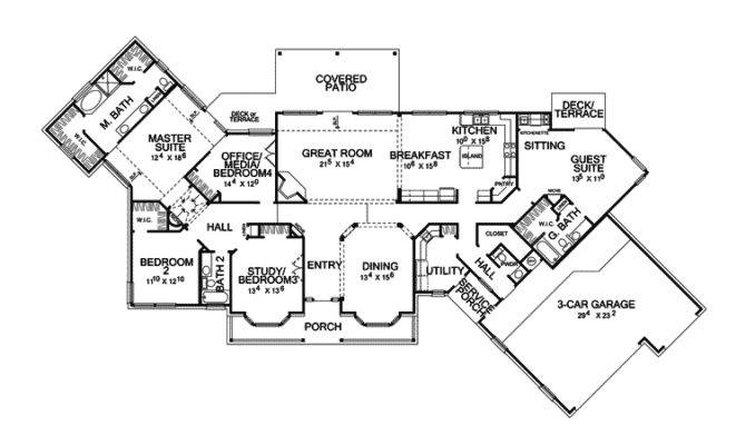 Country House Plan First Floor Plans More