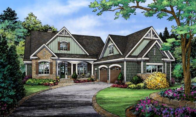 Country House Plans Walkout Basement