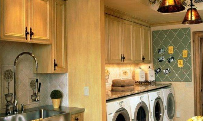 Country Laundry Room Farmhouse Sink Crown Molding
