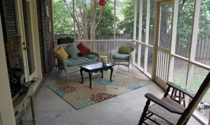Country Porch French Doors Exterior Tile Floors