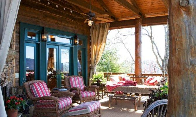 Country Porch French Doors Home Design Elements