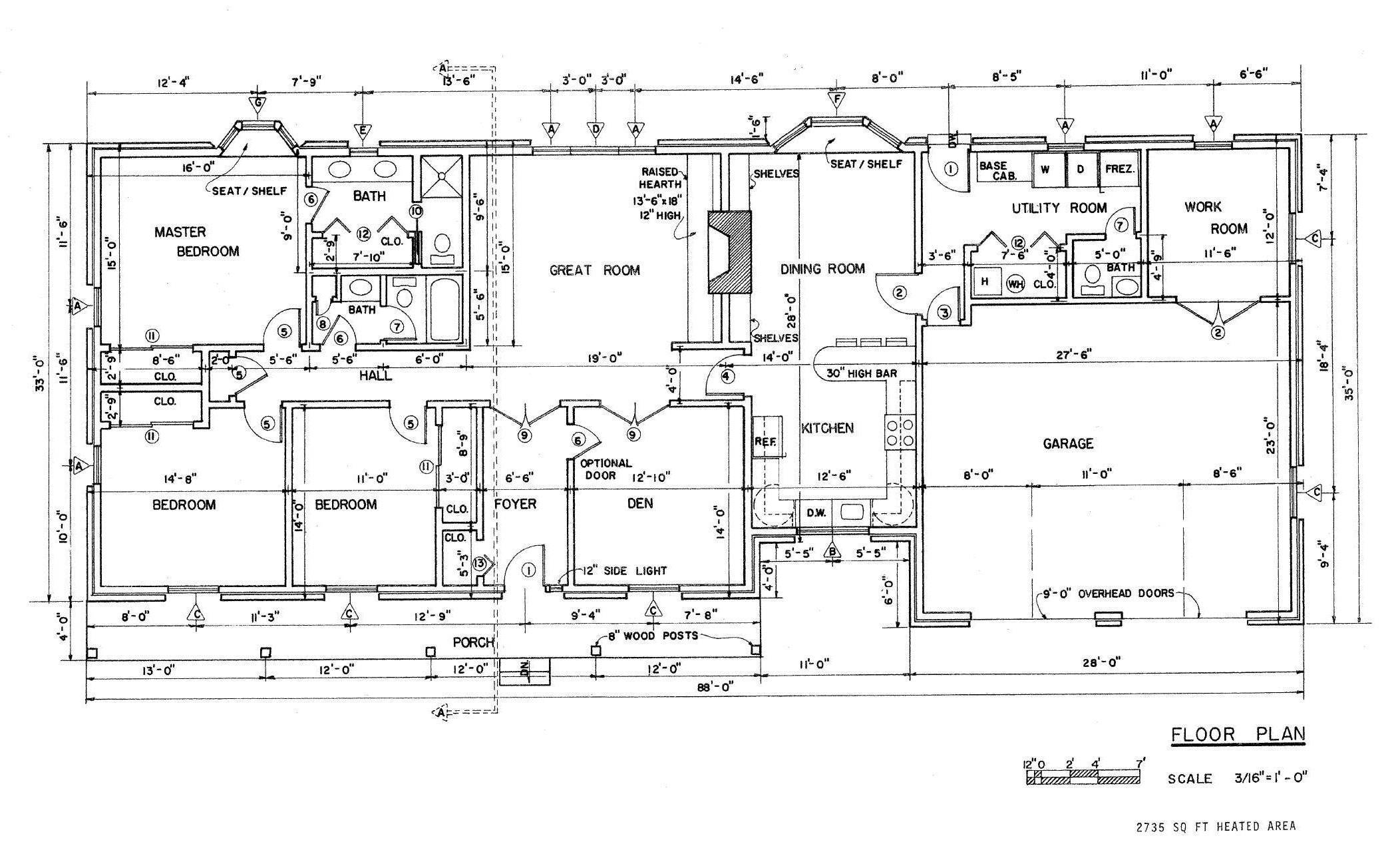 Country Ranch House Plans Floor House Plans 19535
