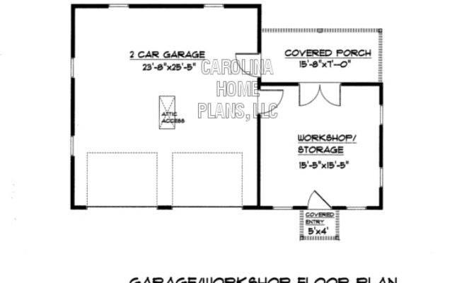 Country Style Garage Workshop Plan Gar