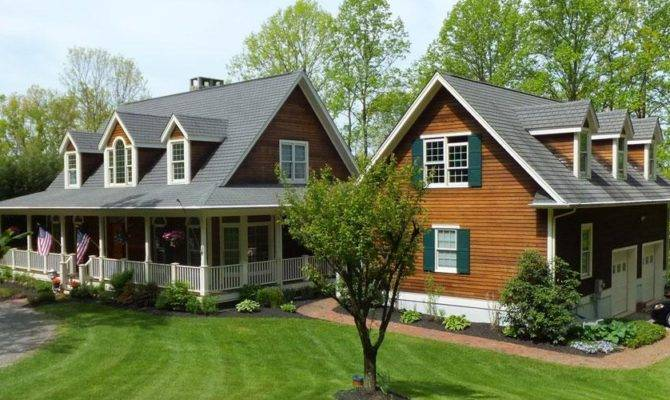 Country Style Houses Wrap Around Porch Traditional
