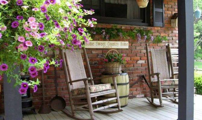 Country Style Porch Front Pinterest