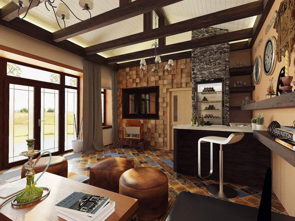 Country Styles Living Room Interior Design Ideas Style House Plans 38525