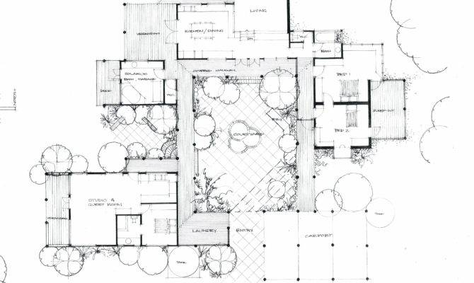 Courtyard House Heather Fraser Building Designer House Plans 131710