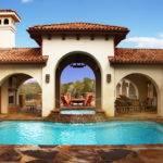 Courtyard Pool Mediterranean Austin