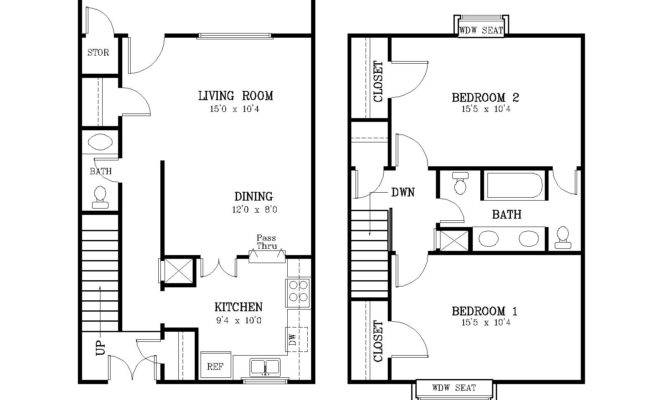 Courtyard Two Bedroom Townhome