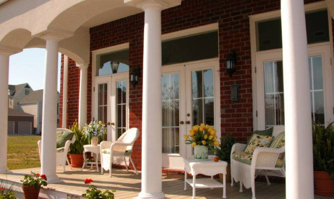 Covered Front Home Porch Design Ideas