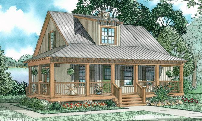 Covered Porch Cottage Architectural Designs