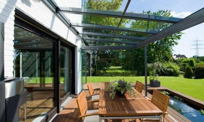 Covered Veranda Design Glass