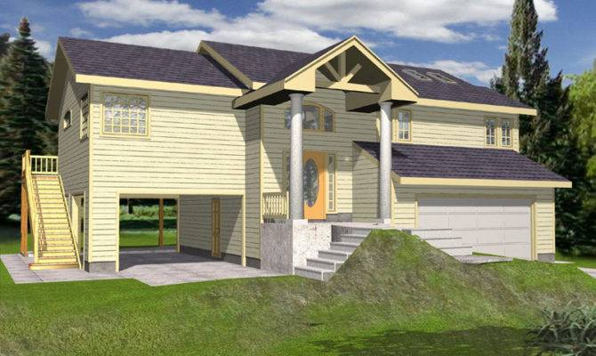 Cowan Creek Split Level Home Plan House Plans