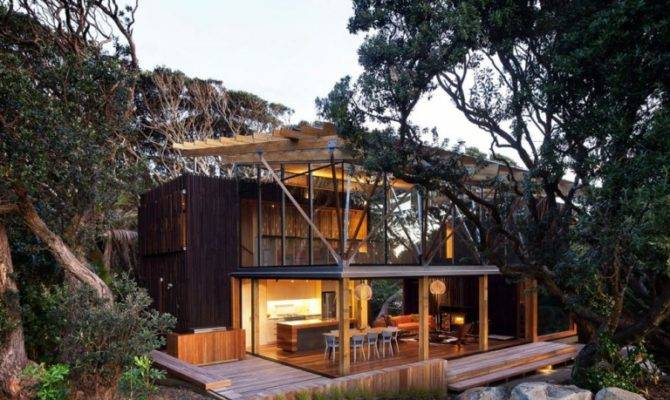 Cozy Modern House Natural Wood Digsdigs