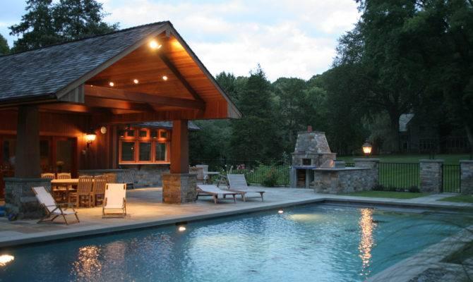 Cozy Pool House Pergola Pools Home