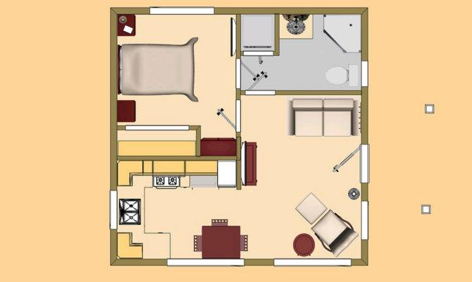 Cozyhomeplans Small House Floor Plan Concept Square Box