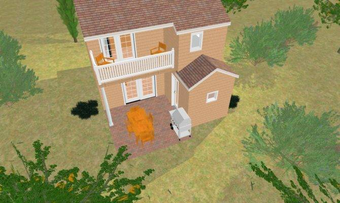 Cozyhomeplans Small House Sand Castle Backside
