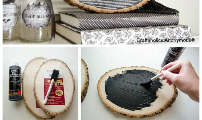 Craftaholics Anonymous Halloween Wood Slice Chalkboard