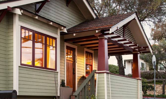 Craftsman Bungalow Remodel Porch Santa