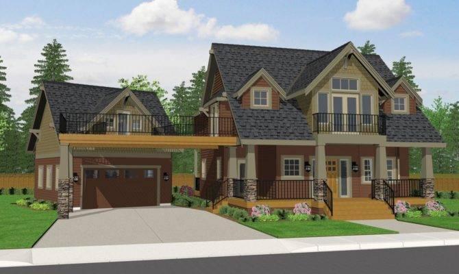 Craftsman Cottage House Plans Garage Style