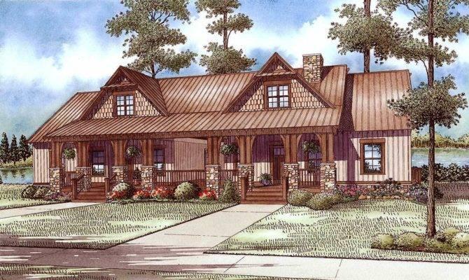 Craftsman Duplex Breezeway Architectural