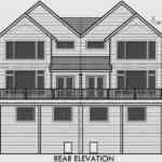 Craftsman Duplex House Plans Luxury Townhouse