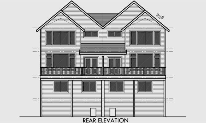 Craftsman Duplex House Plans Luxury Townhouse