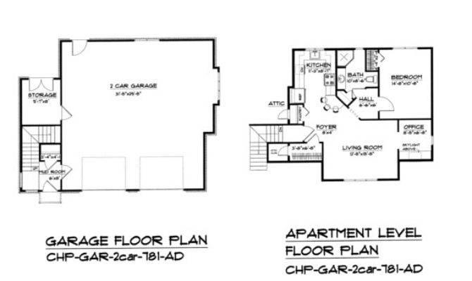 Craftsman Garage Apartment Plan Gar Small