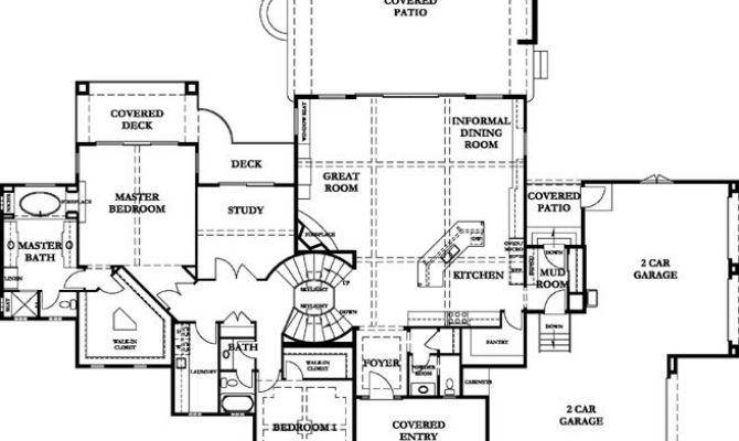 Craftsman House Floor Plans Over