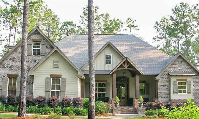 Craftsman House Plan Rustic Exterior Bonus Above
