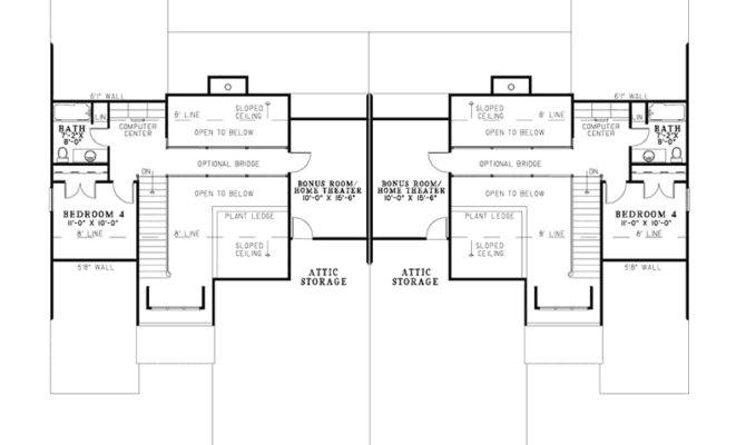Craftsman House Plan Second Floor Plans More