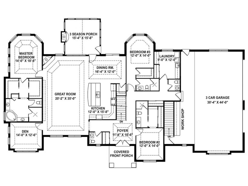Craftsman House Plan Story Retreat Open Floor House Plans 10139
