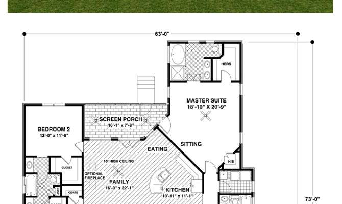 Craftsman House Plan Total Living Area
