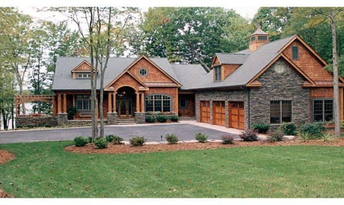 Craftsman House Plans Lake Homes Bungalow Cottage