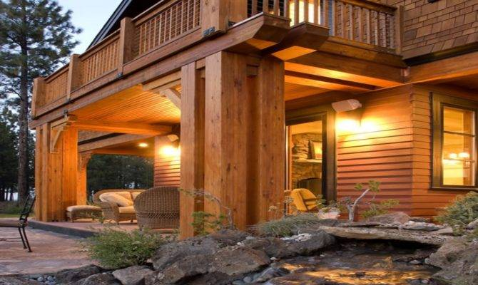 Craftsman Lodge Style Home Plans Mountain