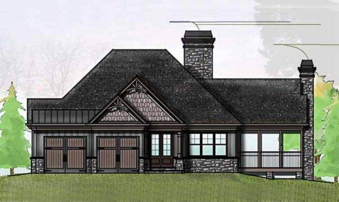 Craftsman One Story House Cottage Plans