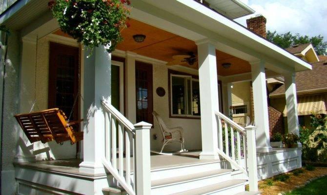 Craftsman Porch Railing Designs Exterior