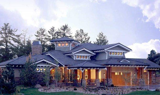 Craftsman Prairie Style Southwest House Plan