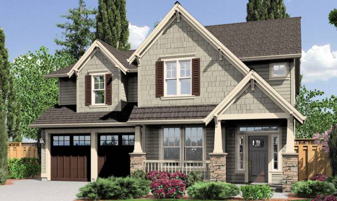 Craftsman Story House Plans Wall Exterior Style
