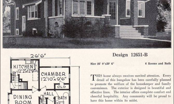 Craftsman Style Bungalow House Plans Vintage