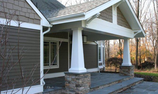 Craftsman Style Front Porch Posts