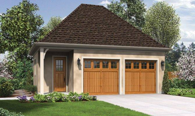Craftsman Style Garage Plan Square Feet Bedrooms