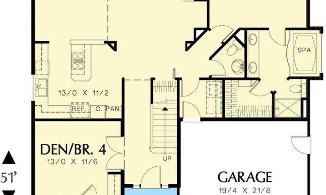 Craftsman Style Homes Floor Plans Garage Home